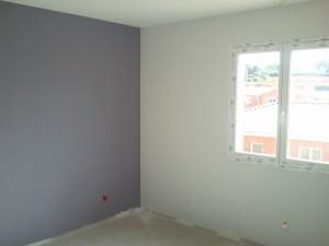 Construction aux portes de toulouse la peinture gris tr s clair et violet - Peinture gris claire ...